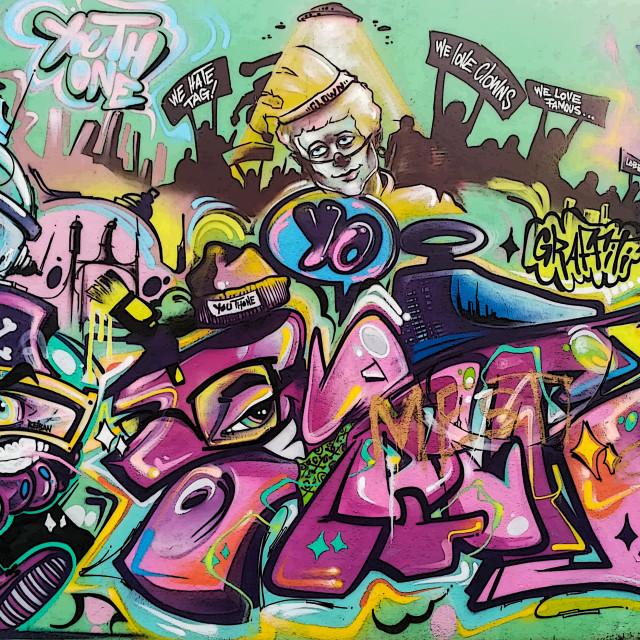 """Lisbon graffiti"" stock image"