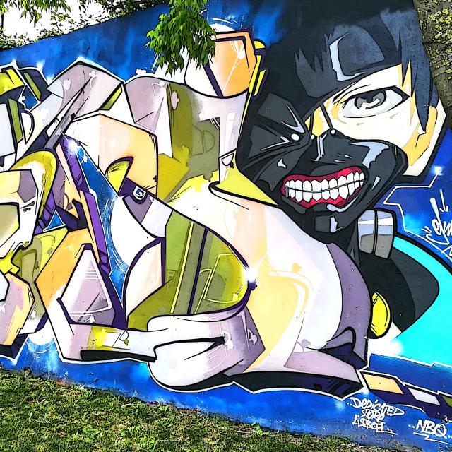 """""""Street art memorial"""" stock image"""