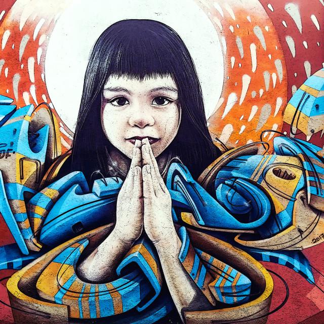 """""""Praying for change"""" stock image"""