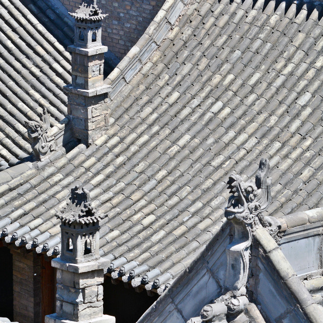 """Pingyao Roofs"" stock image"