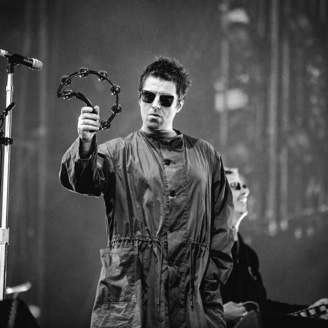 """Liam Gallagher at Isle of Wight Festival 2017"" stock image"
