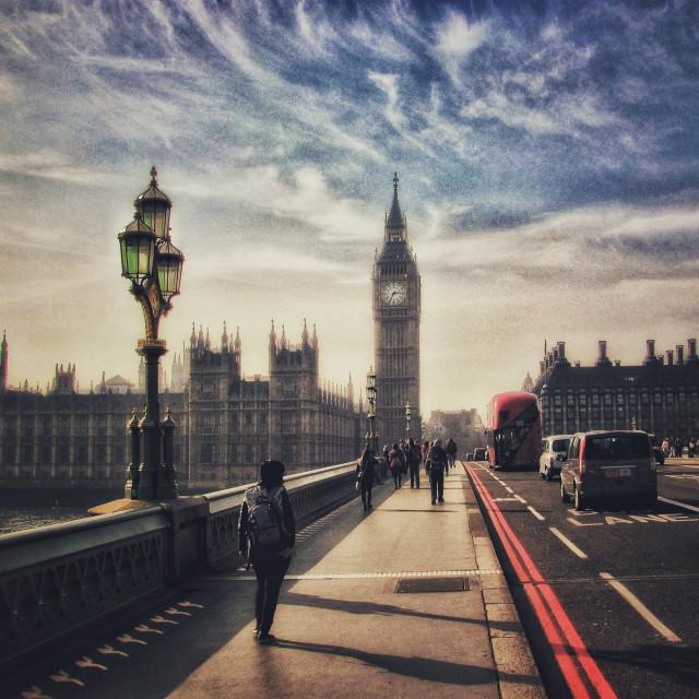 """""""Big Ben Westminster Bridge"""" stock image"""