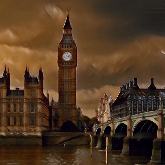 """Sepia Big Ben and Parliament"" stock image"