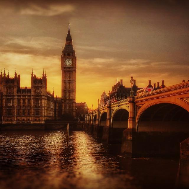 """""""Big Ben and Parliament sunset"""" stock image"""