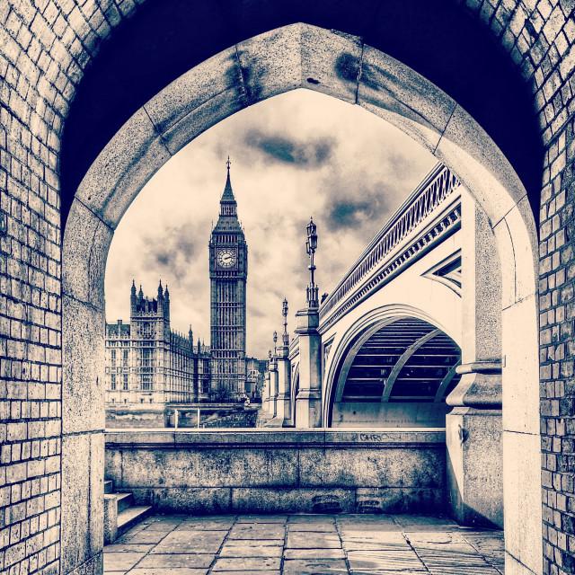 """""""Big Ben through an Arch"""" stock image"""
