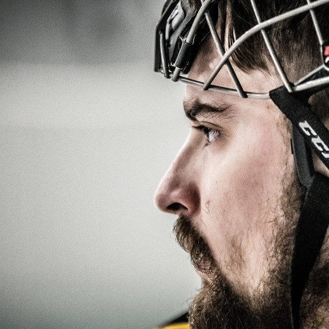 """Hockey player profile"" stock image"