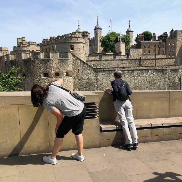 """Tourists at Tower of London"" stock image"