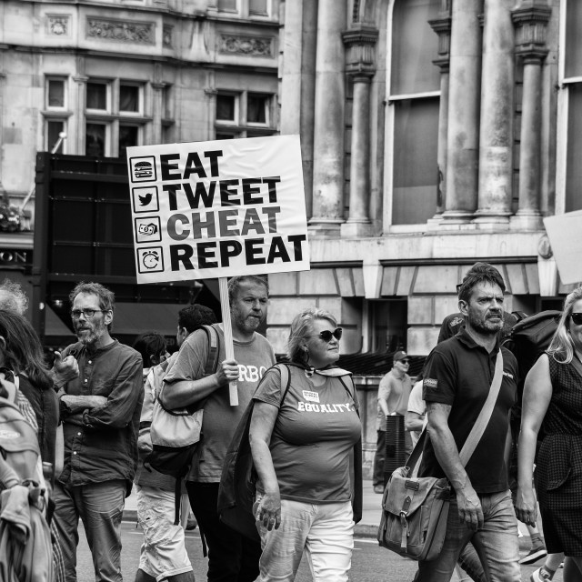"""Eat Tweet Cheat Repeat"" stock image"