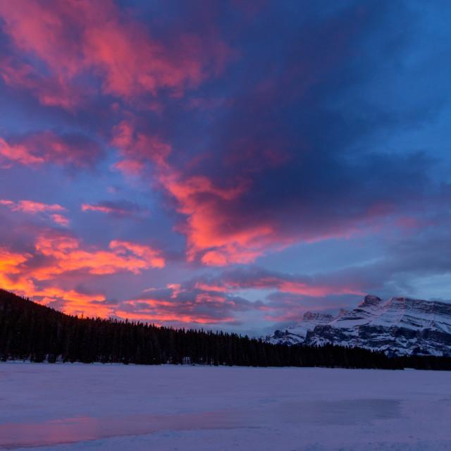 """""""Mt Rundle Sunrise"""" stock image"""