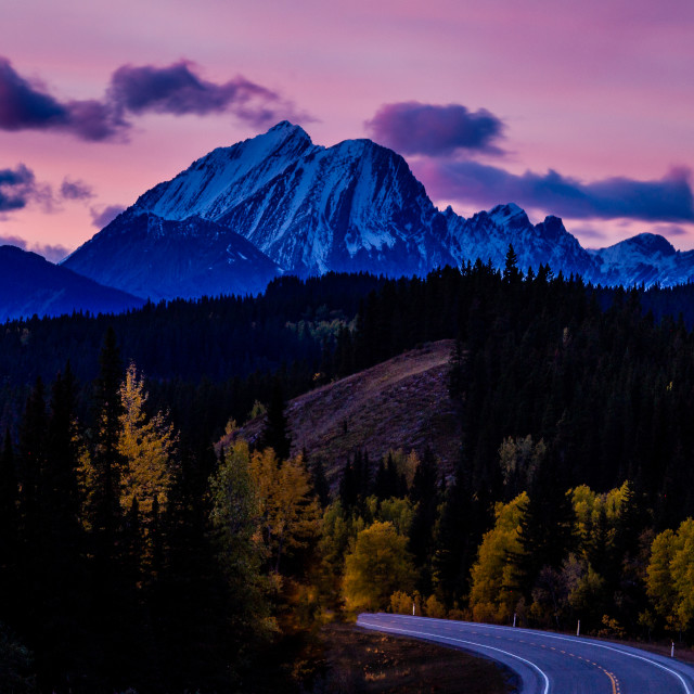 """Sunset in the Rockies"" stock image"