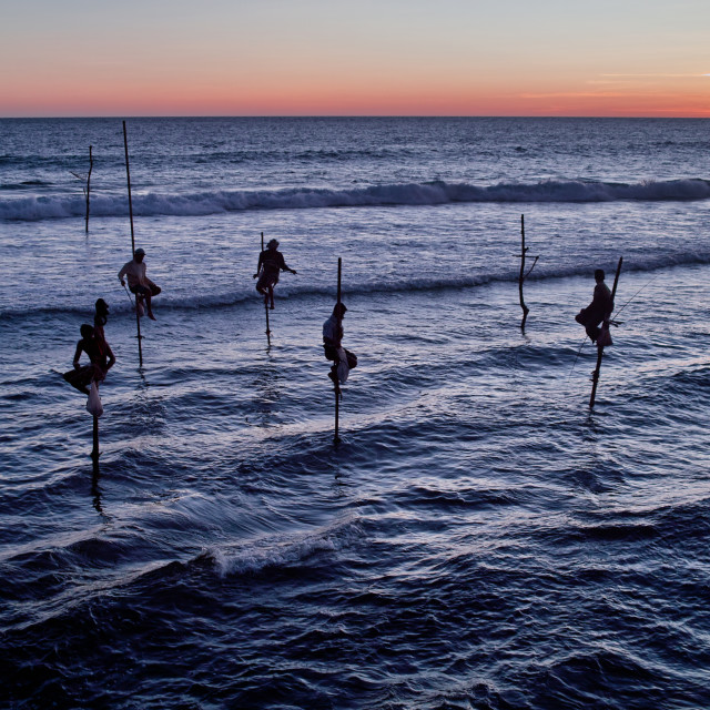 """Stilt-fishermen"" stock image"