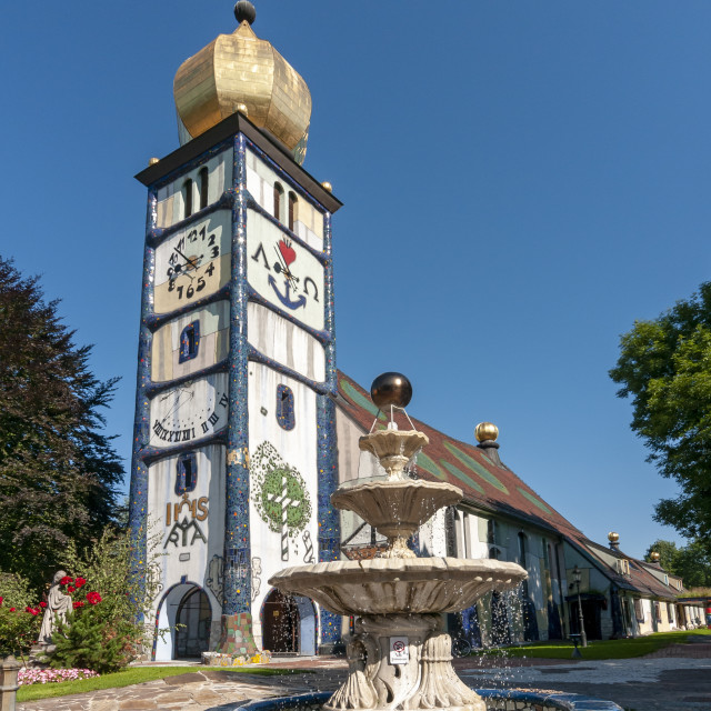 """Hundertwasser Church in Barnbach, Austria"" stock image"