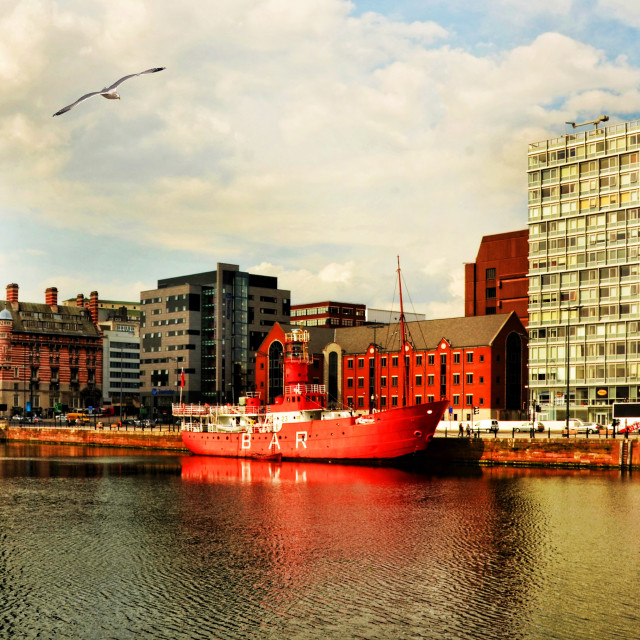 """Close by Liverpool's Royal Albert Dock complex"" stock image"