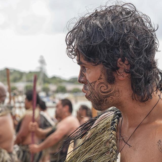 """Maori warior"" stock image"