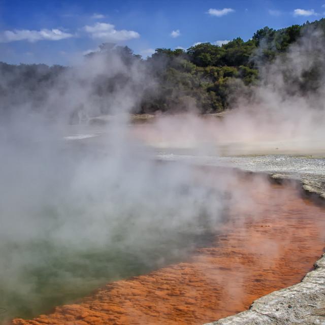 """Champagne Pool in Rotorua, New Zealand"" stock image"