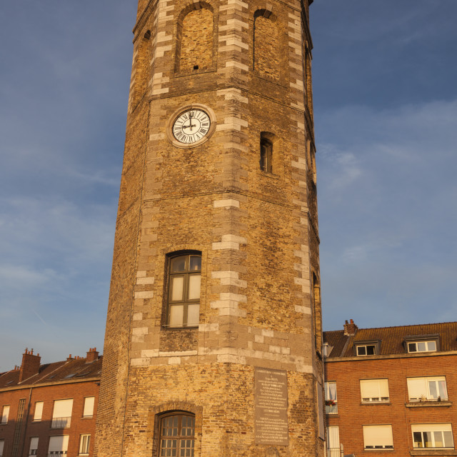 """Leughenaer Tower in Dunkirk"" stock image"