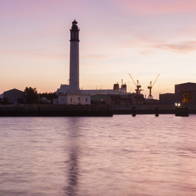 """Lighthouse of Risban in Dunkirk"" stock image"