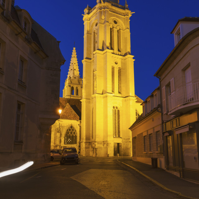 """St Pierre Church in Senlis"" stock image"