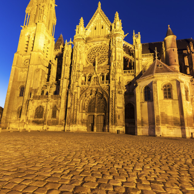 """Senlis Notre Dame Cathedral"" stock image"