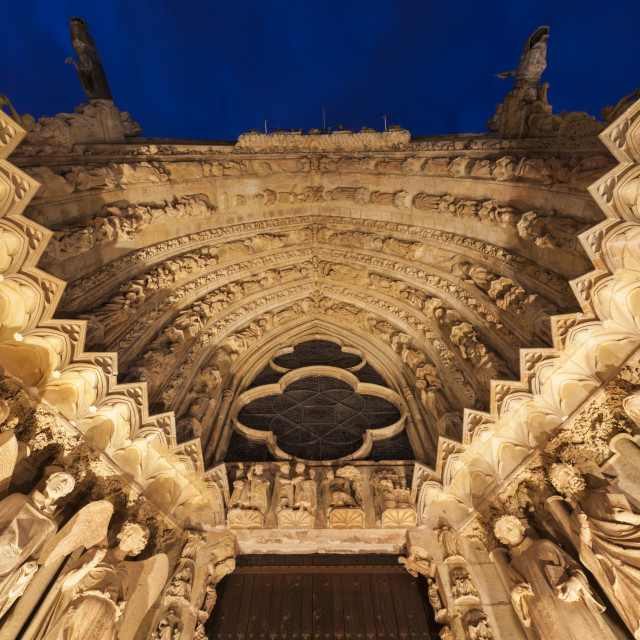"""Cathedral of Our Lady of Reims"" stock image"