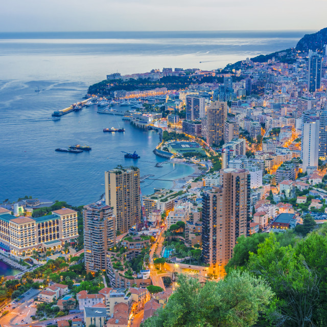 """""""View of the city of Monaco. French Riviera"""" stock image"""
