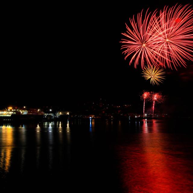 """Oban's fireworks"" stock image"