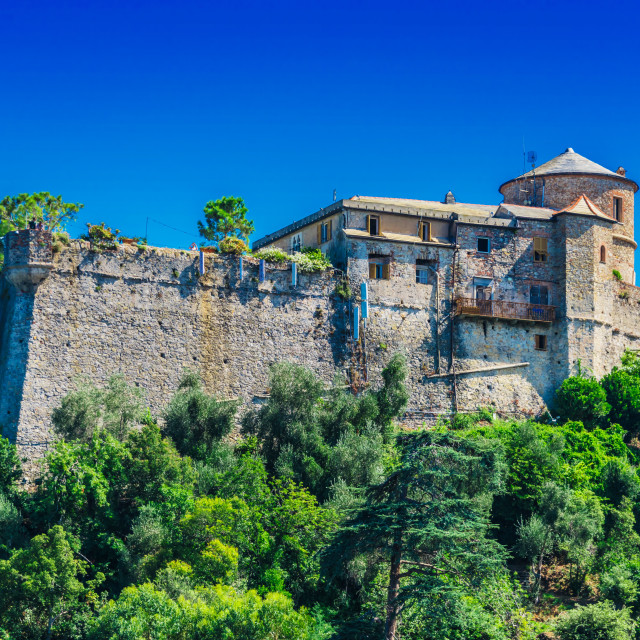 """""""Castello Brown in Portofino, Liguria, Italy"""" stock image"""