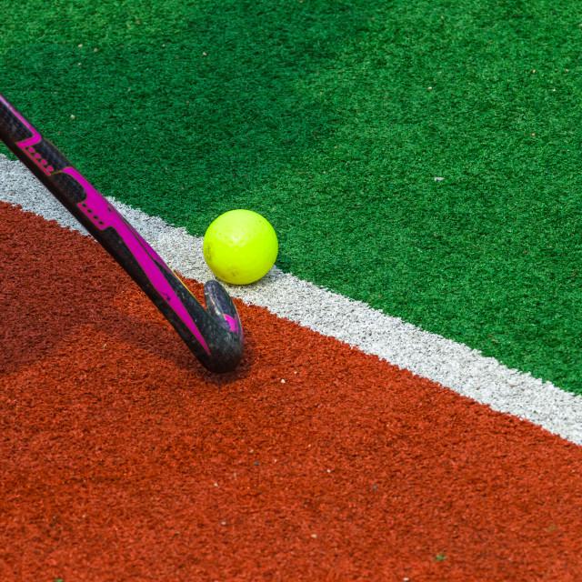 """Hockey Astro Ball Stick Detail"" stock image"