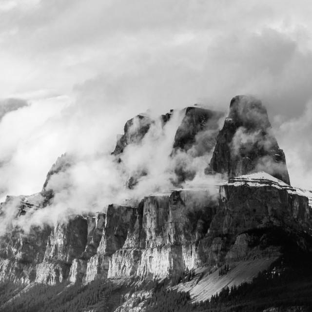 """Castle Mountain"" stock image"