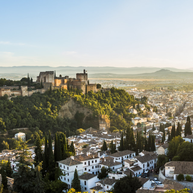 """Panoramic view of Granada, Andalusia,Southern Spain"" stock image"