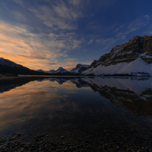 """Bow Lake Dawn"" stock image"