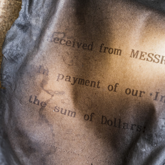 """Old Burnt Payment Receipt"" stock image"