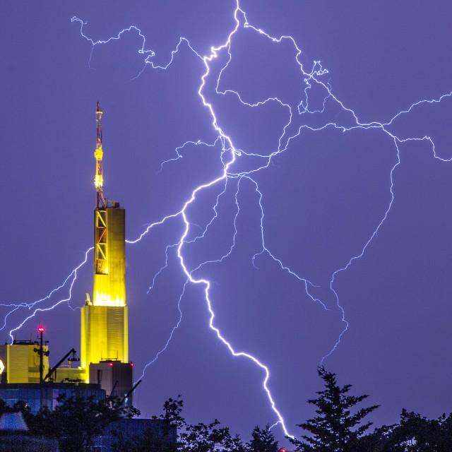 """Commerzbank - Storm"" stock image"
