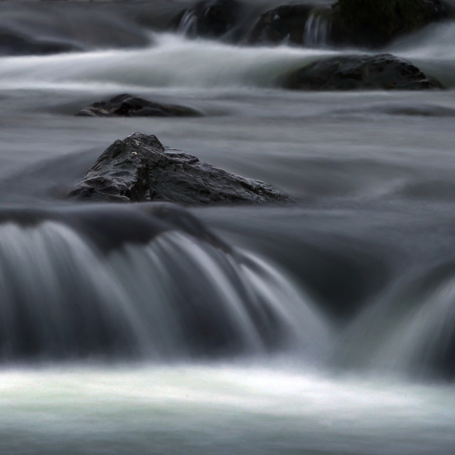 """Rocks in the River stream"" stock image"
