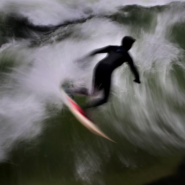 """""""Surfing at Englischer Garten"""" stock image"""