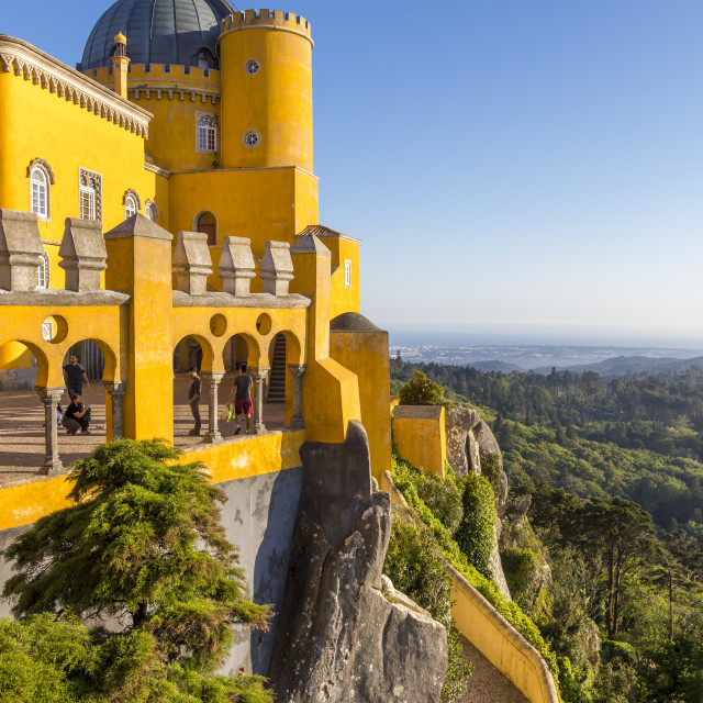 """""""The Pena Palace near Sintra, Portugal, Europe"""" stock image"""