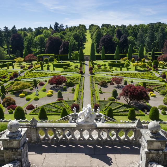 """Drummond Castle Gardens, Perthshire, Scotland, UK"" stock image"