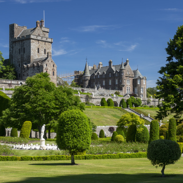 """""""Drummond Castle from the gardens, Perthshire, Scotland, UK"""" stock image"""
