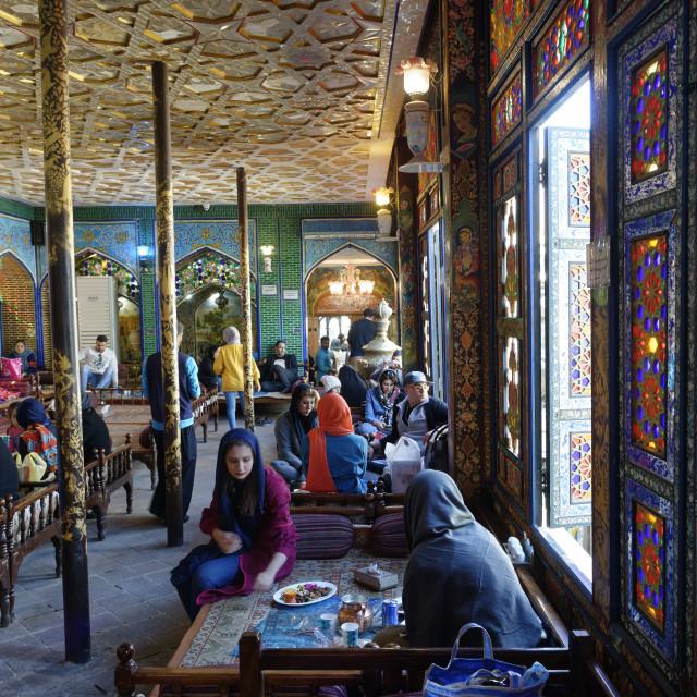 """Naghsh-E Jahan Restaurant. Ispahan. Iran."" stock image"
