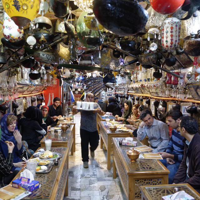 """Restaurant. Ispahan. Iran."" stock image"