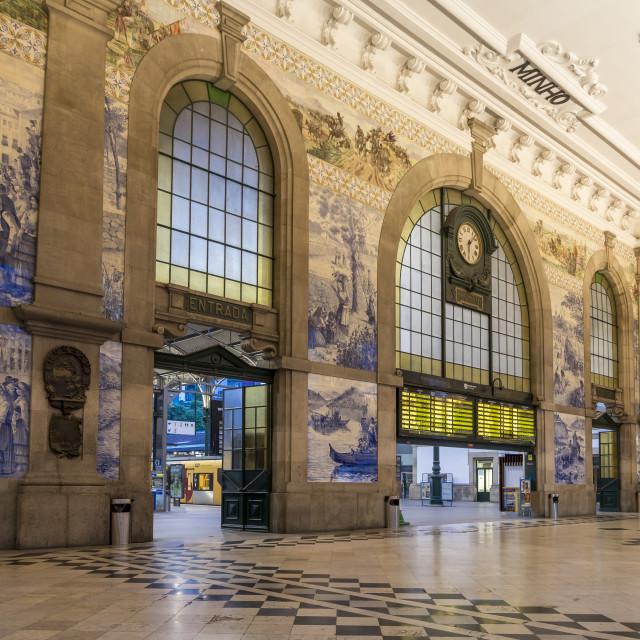 """""""São Bento Train Station, Porto, Portugal, Europe"""" stock image"""