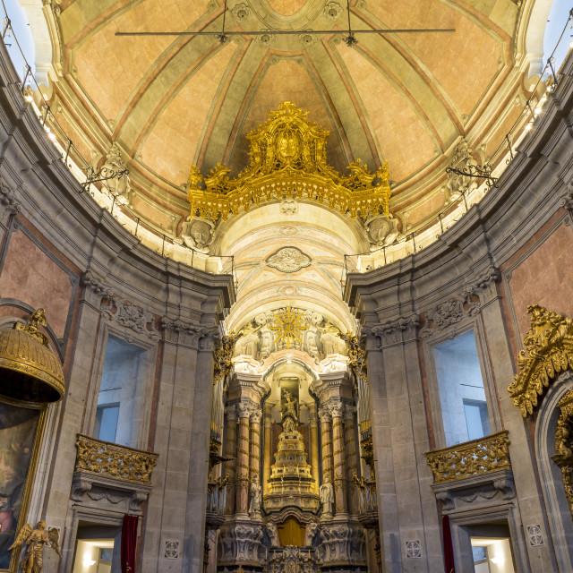 """Interior of the Clerigos Church, Porto, Portugal, Europe"" stock image"