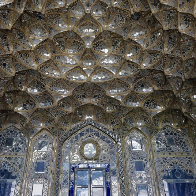 """Mirror Palace. Chehel Sotoun Palace (Forty Columns. Ispahan. Iran."" stock image"