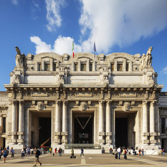 """""""Europe, Italy, Lombardy, Milan, Central Train station"""" stock image"""