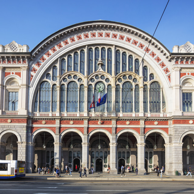 """Europe, Italy, Piedmont, Turin, Porta Nuova train station"" stock image"