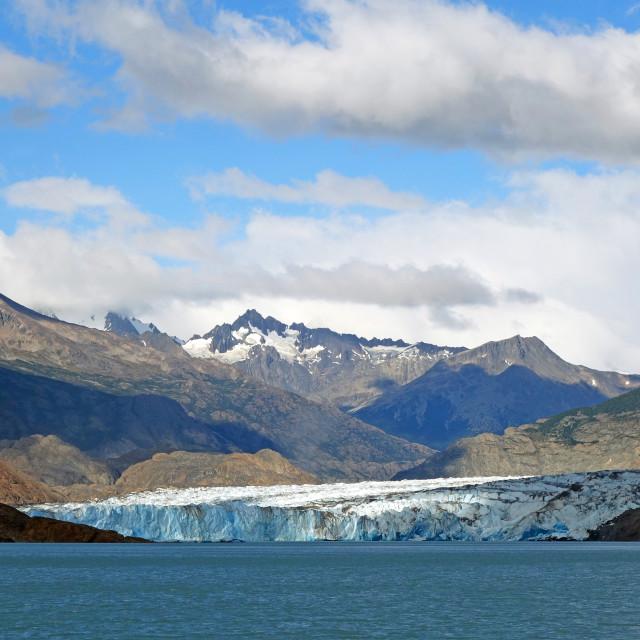 """The Southern Patagonian Icecap terminating in Lago Viedmar, El Chalten,..."" stock image"