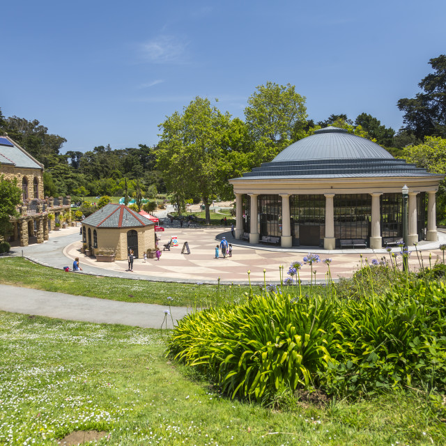 """View of Carousel, Golden Gate Park, San Francisco, California, USA, North..."" stock image"