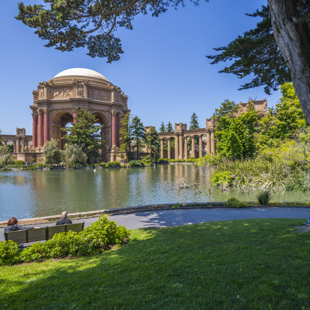 """""""View of Palace of Fine Arts Theatre, San Francisco, California, USA, North..."""" stock image"""