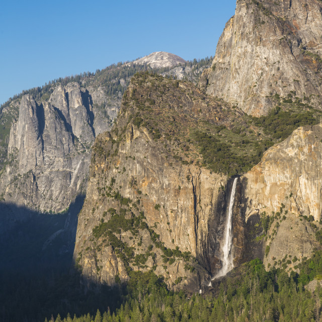 """""""Yosemite Valley and Bridalveil Fall from Tunnel View, Yosemite National Park,..."""" stock image"""