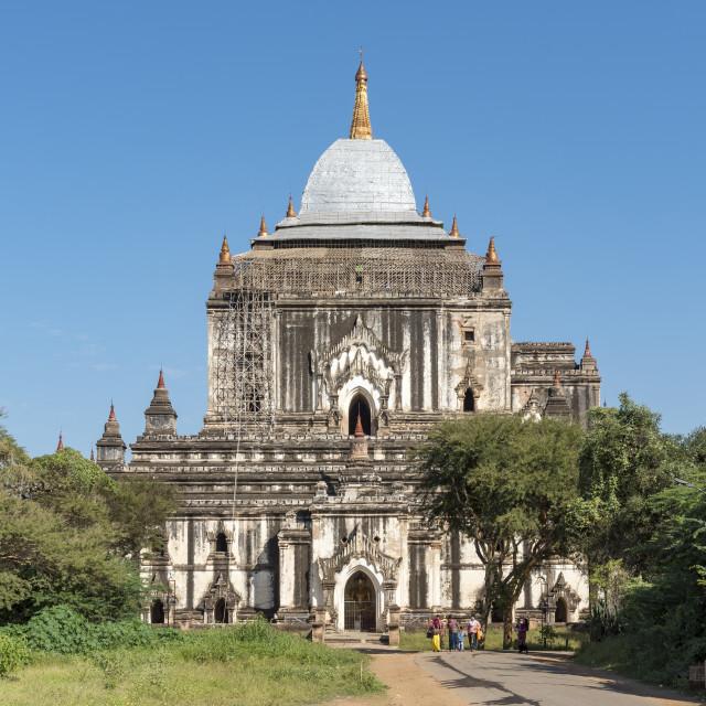 """Thatbyinnyu Temple, Bagan"" stock image"